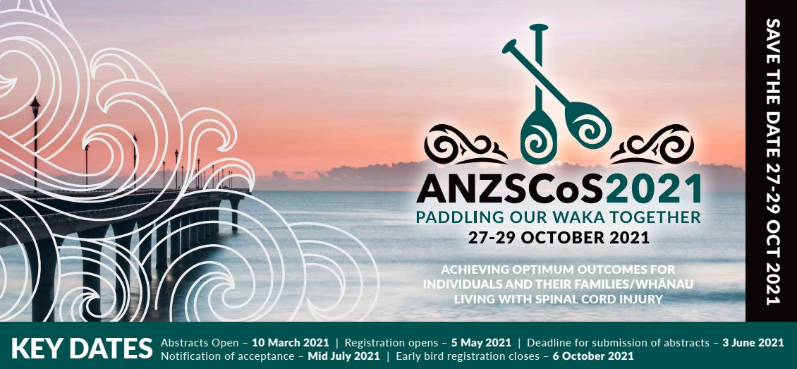 27th Australian & New Zealand Spinal Cord Society Annual Scientific Meeting (ANZSCoS 2021) VIRTUAL MEETING   27-29 October 2021