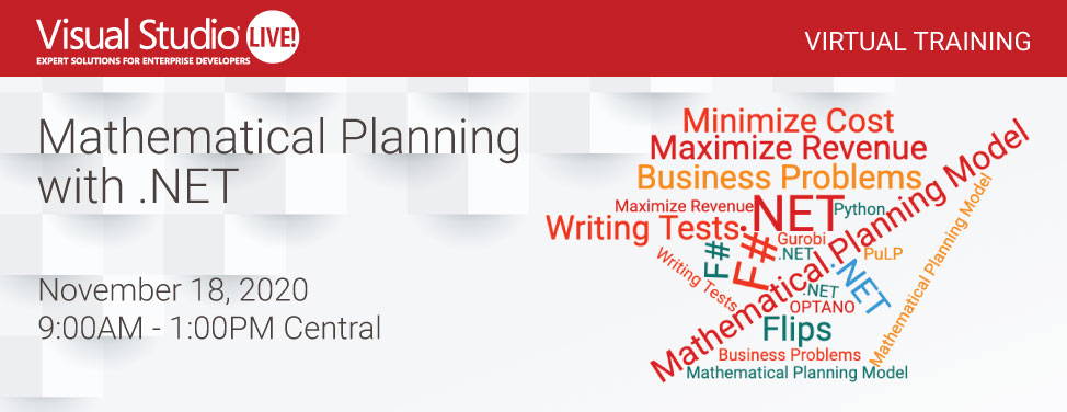 VSLive Virtual - Mathematical Planning with .NET