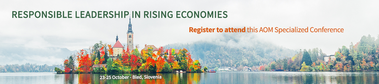 Register to attend the Responsible Leadership meeting in Slovenia, 23-25 Oct 2019.