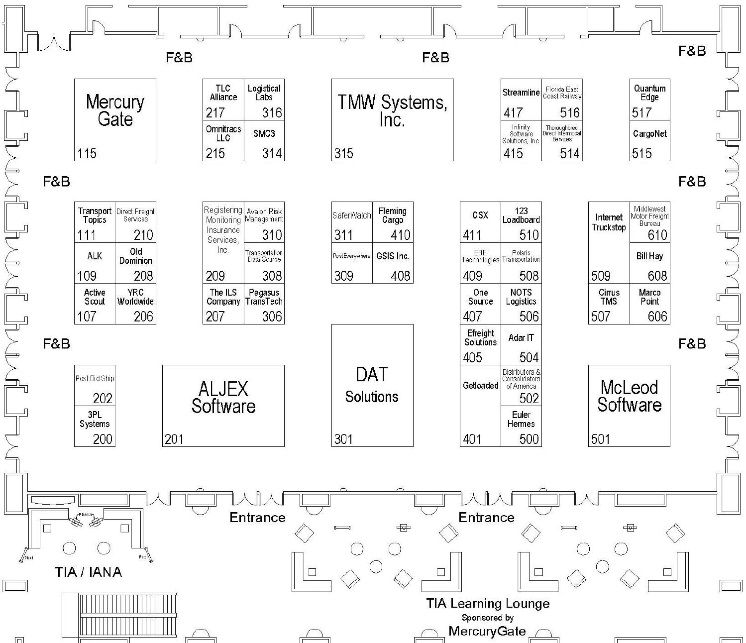 2014 tia great ideas conference and exposition for Trade show floor plan design
