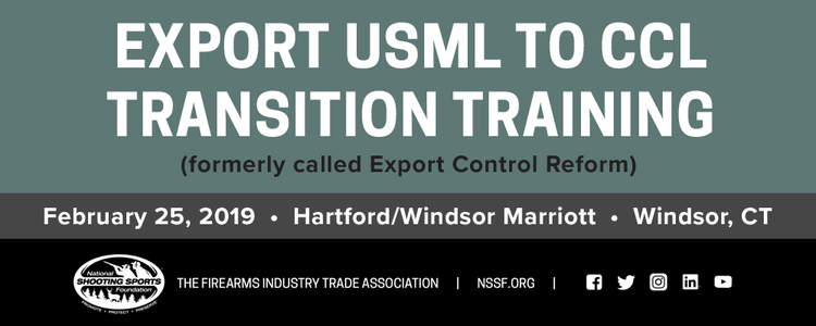 2019 Export USML to CCL Transition Training