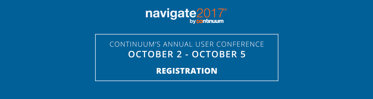 Navigate 2017 by Continuum