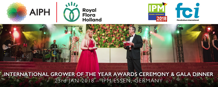 AIPH International Grower of the Year 2018 ( IGOTY )