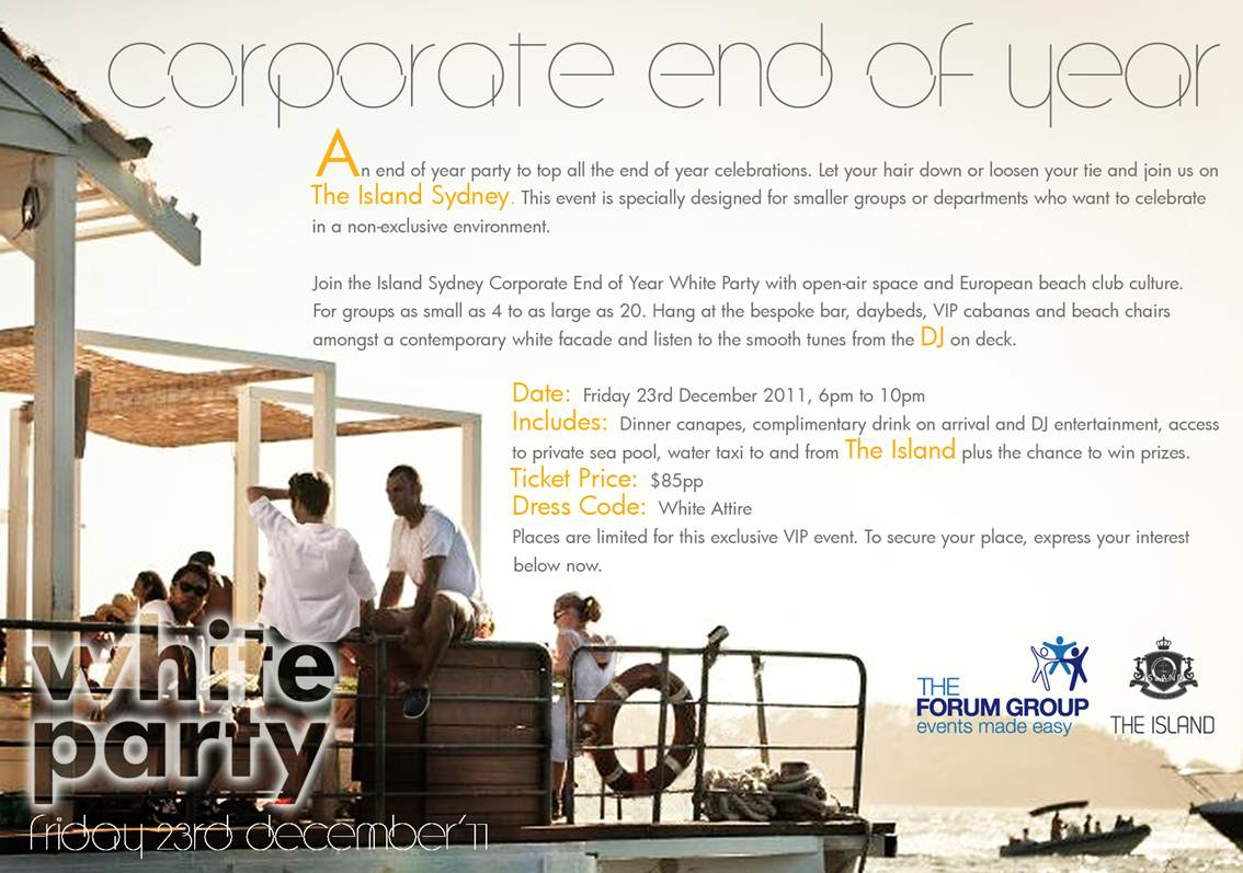corporate end of year white party