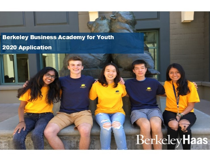2020 Berkeley Business Academy for Youth Application