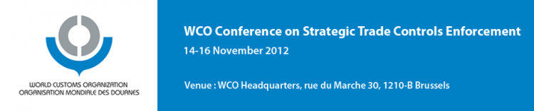 WCO Conference on Strategic Trade Controls Enforcement 2012