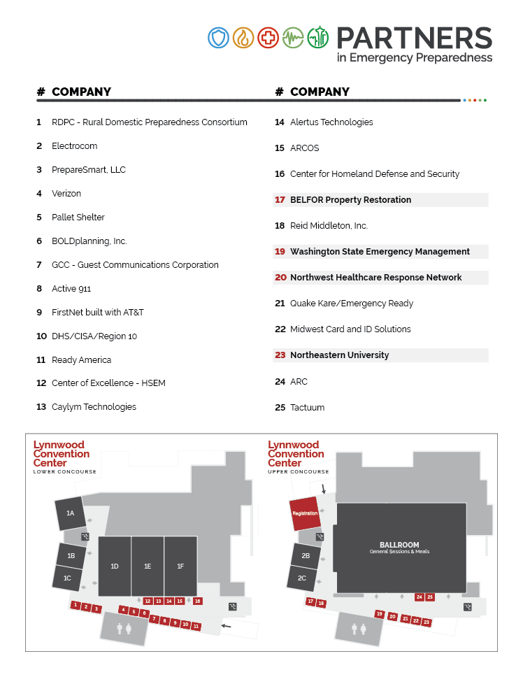 Exhibitor floorplan and booth assignments