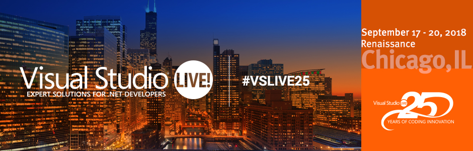 Visual Studio Live! Chicago 2018