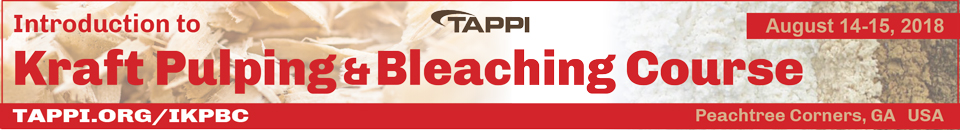 2018 TAPPI Introduction To Kraft Pulping & Bleaching Course