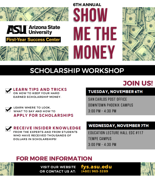 Show Me the Money-Scholarship Workshop