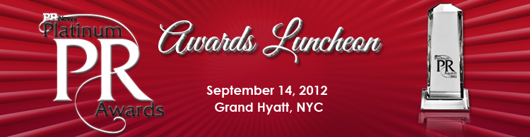 PR News' PR Platinum Awards Luncheon - September 14, 2012 New York