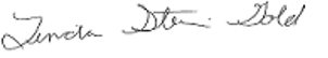 Linda Stein Gold, MD signature