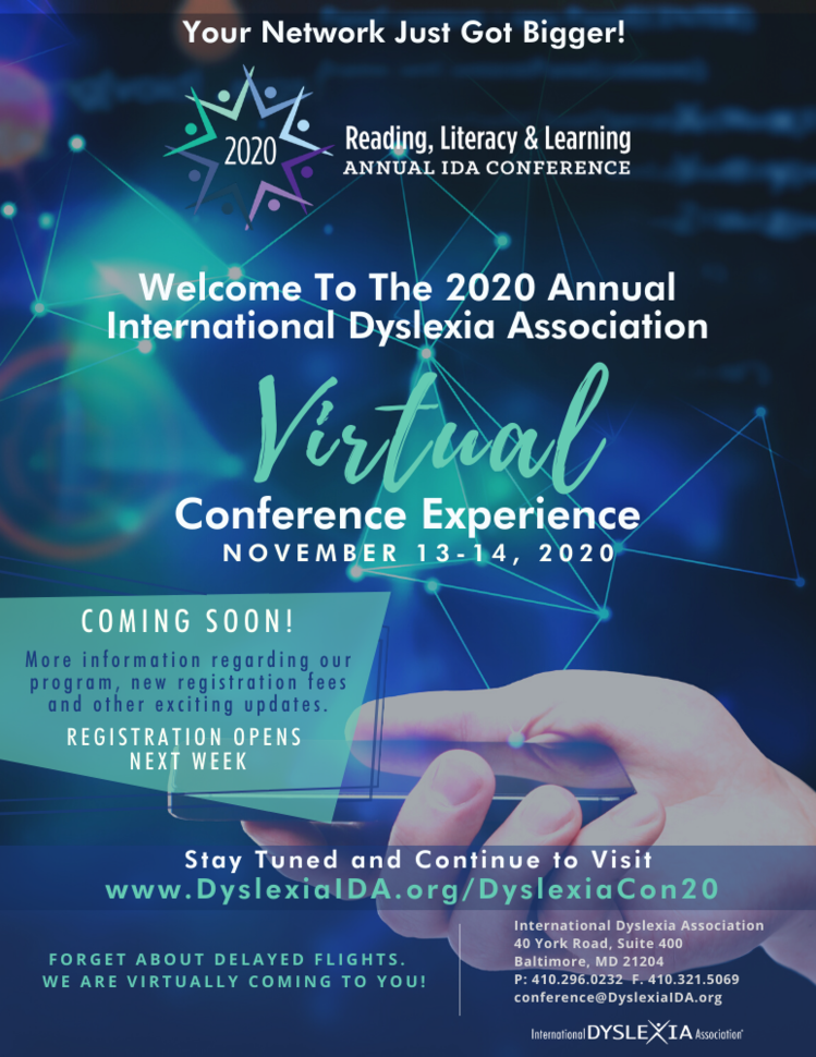 2020 Annual IDA Reading, Literacy & Learning Virtual Conference