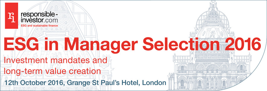 ESG in Manager Selection 2016