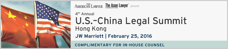 U.S.-China Legal Summit 2016 - Hong Kong