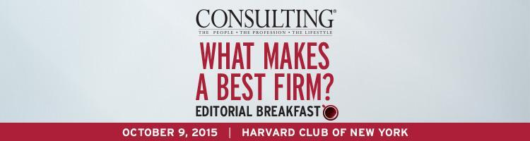 2015 What Makes a Best Firm? Editorial Breakfast