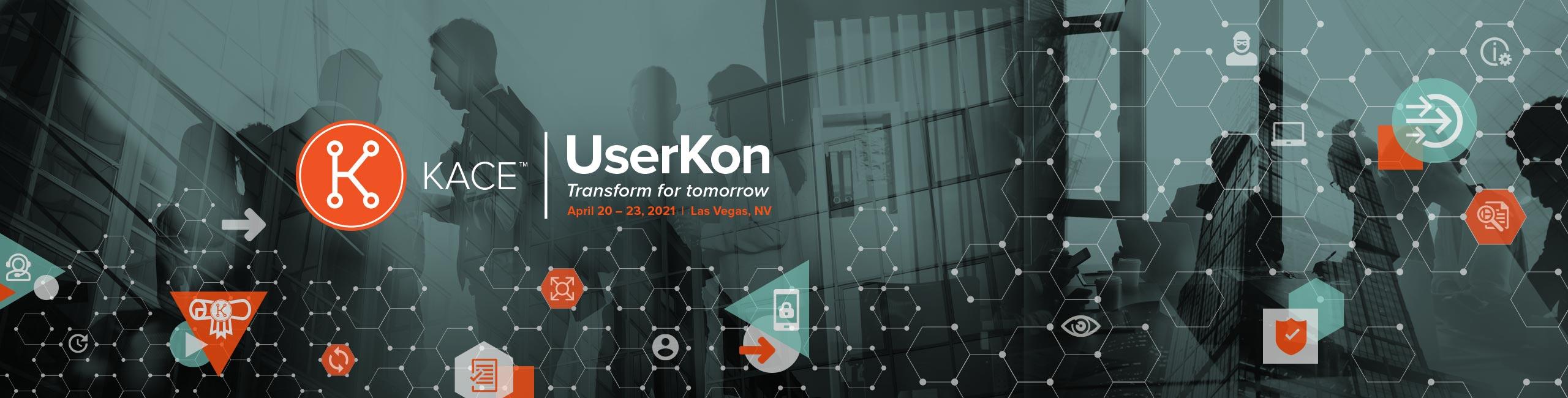 KACE UserKon 2021 Registration