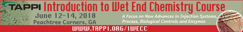 2018 TAPPI Introduction To Wet End Chemistry Course