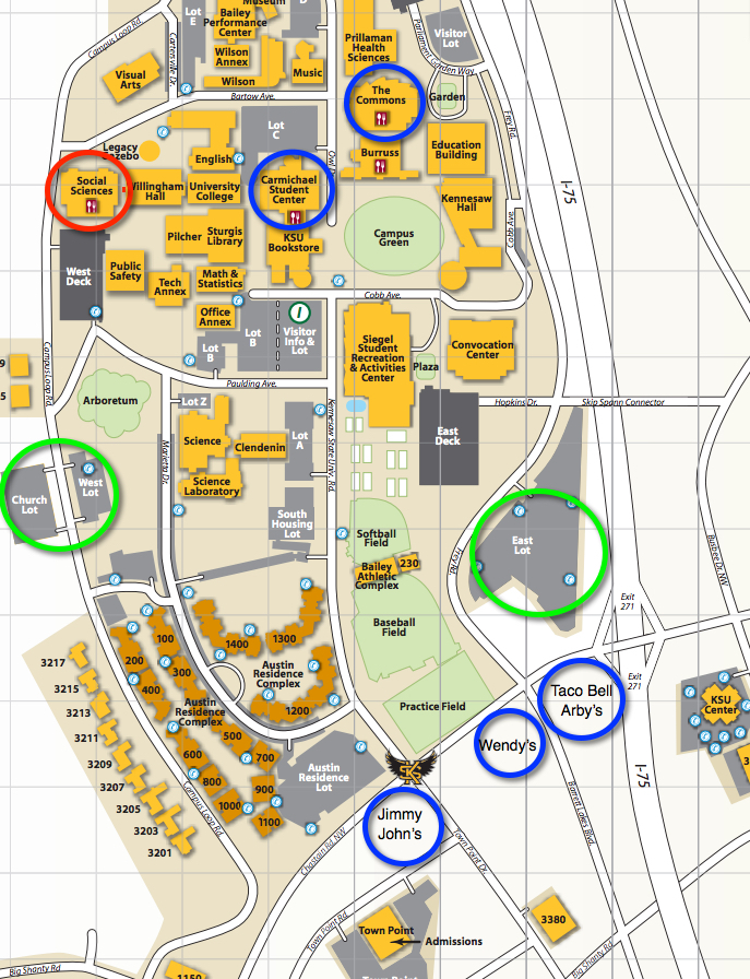 ksu map of campus Flipcon1 Atlanta 2015 ksu map of campus