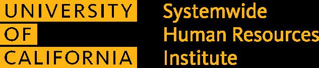 UC Systemwide HR Institute lock up logo