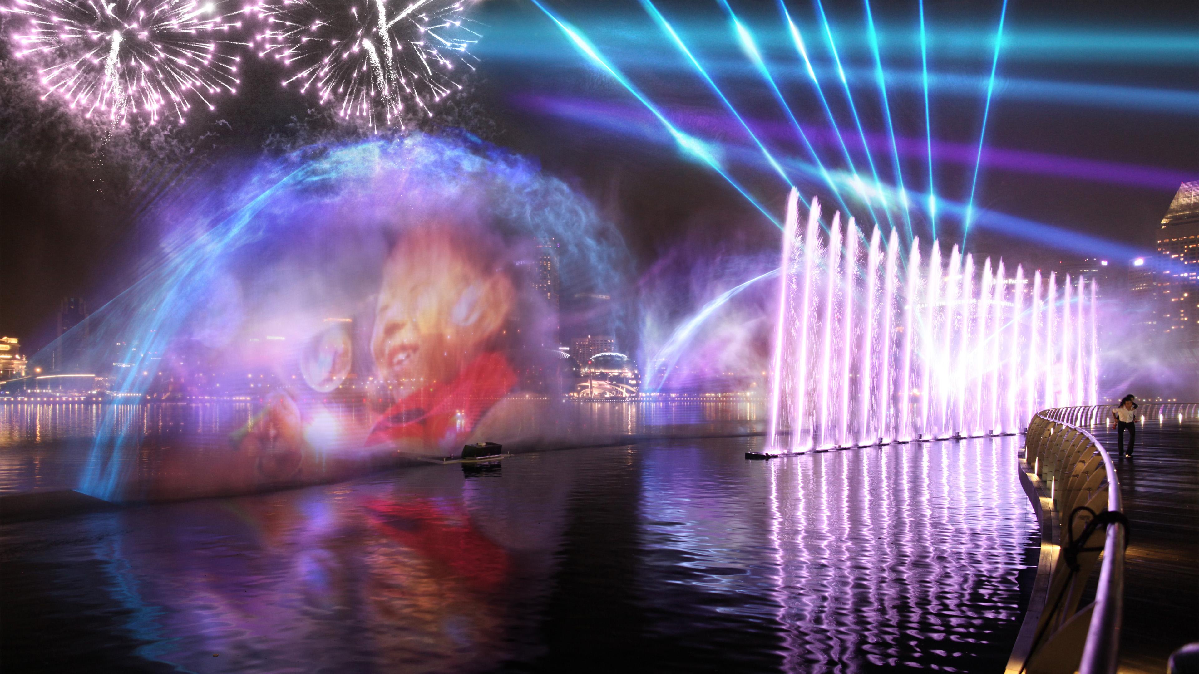 Сингапур лазерное шоу смотреть