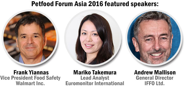 Petfood Forum Asia 2016 speakers