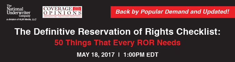 2017 The Definitive Reservation of Rights Checklist: 50 Things That Every ROR Needs Webinar