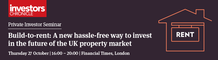 Private Investor Seminar - Build-to-rent: A new hassle-free way to invest in the future of the UK property market
