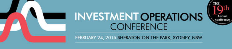 Investment Operations Conference, 2016