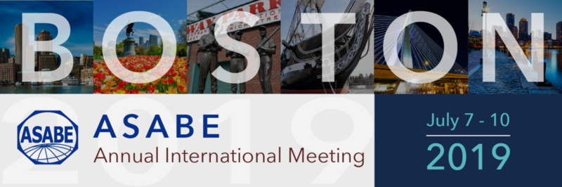 2019 ASABE Annual International Meeting