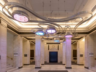 Foyer to the IET, the chosen venue