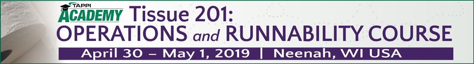 2019 TAPPI Tissue 201: Operations and Runnability Course