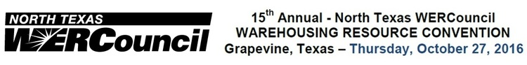 North Texas WERCouncil Warehousing Resource Convention