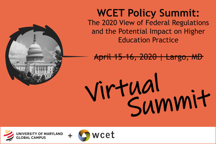 WCET + University of Maryland Global Campus 2020 Summit: