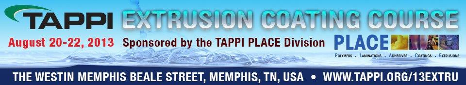 2013 TAPPI PLACE Extrusion Coating Course