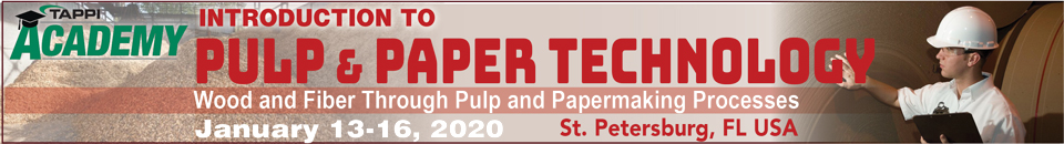 2020 TAPPI Introduction to Pulp and Paper Course