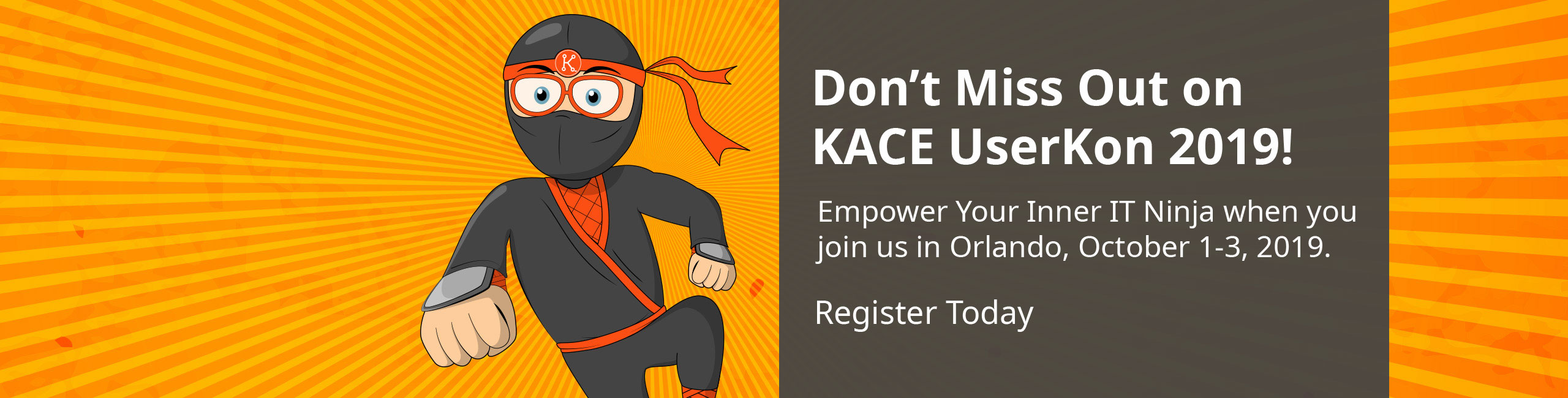 KACE UserKon 2019 Registration