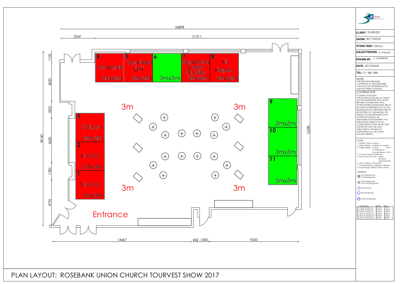 FCEI Exhibition Floorplan