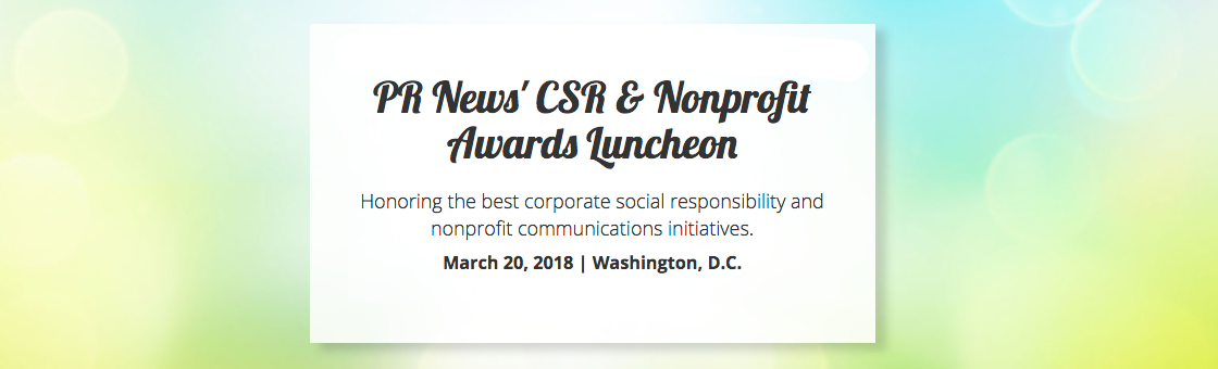 PR News' CSR and Nonprofit Awards Luncheon