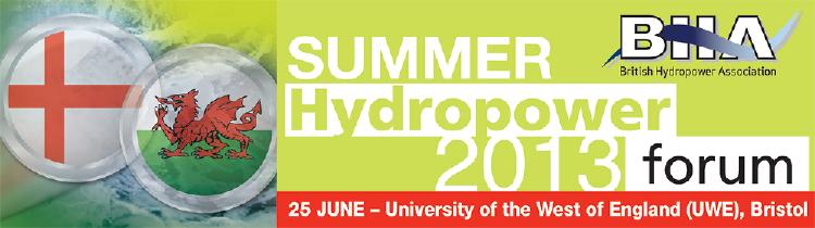 BHA Summer Hydropower Forum 2013 (Bristol)