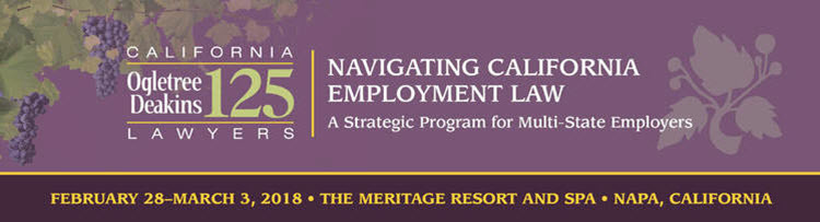 Navigating California Employment Law 2018