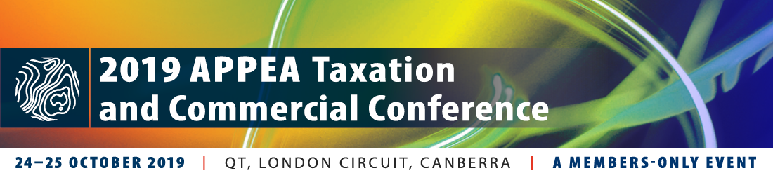 2019 APPEA Taxation and Commercial Conference