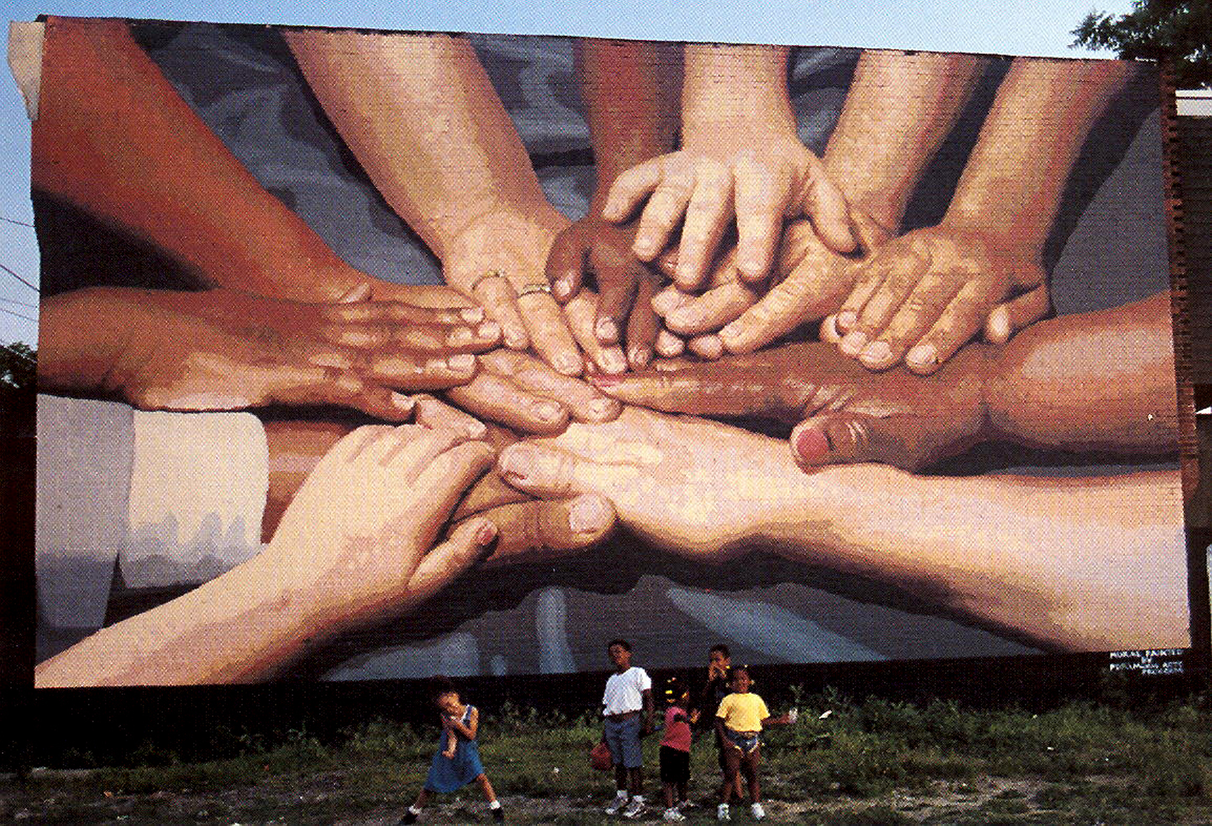 Peace Wall mural by Jane Golden and Peter Pagast, photo by PHLCVB