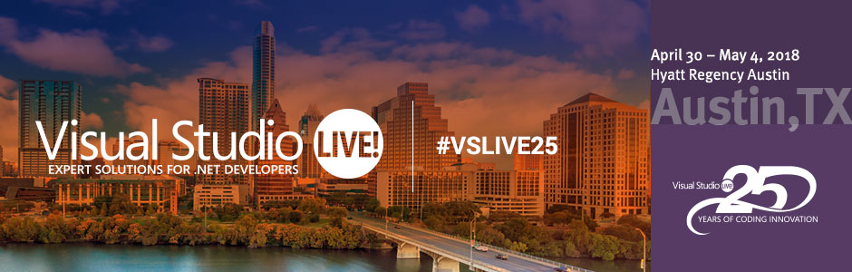 Visual Studio Live! Austin 2018