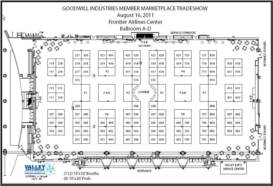 2011 member marketplace tradeshow for Trade show floor plan design