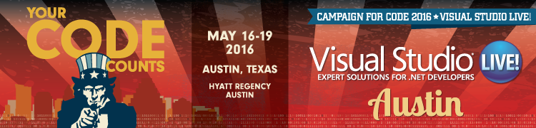 Visual Studio Live! Austin 2016