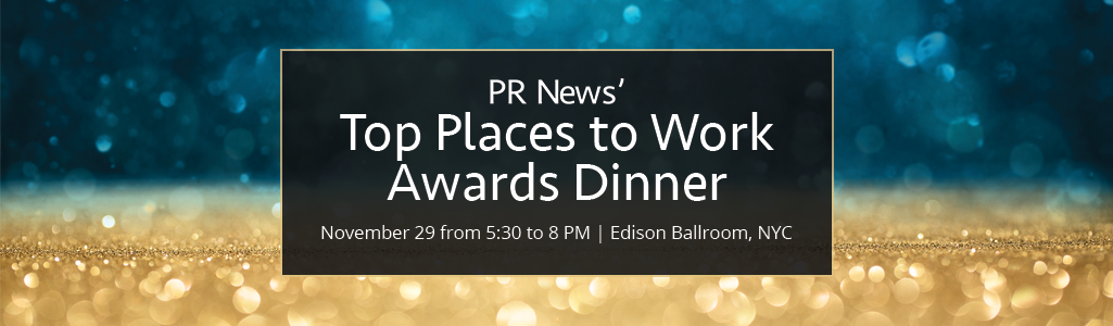 PR News' Top Places to Work in PR Awards Dinner