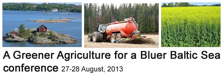 A Greener Agriculture for a Bluer Baltic Sea conference