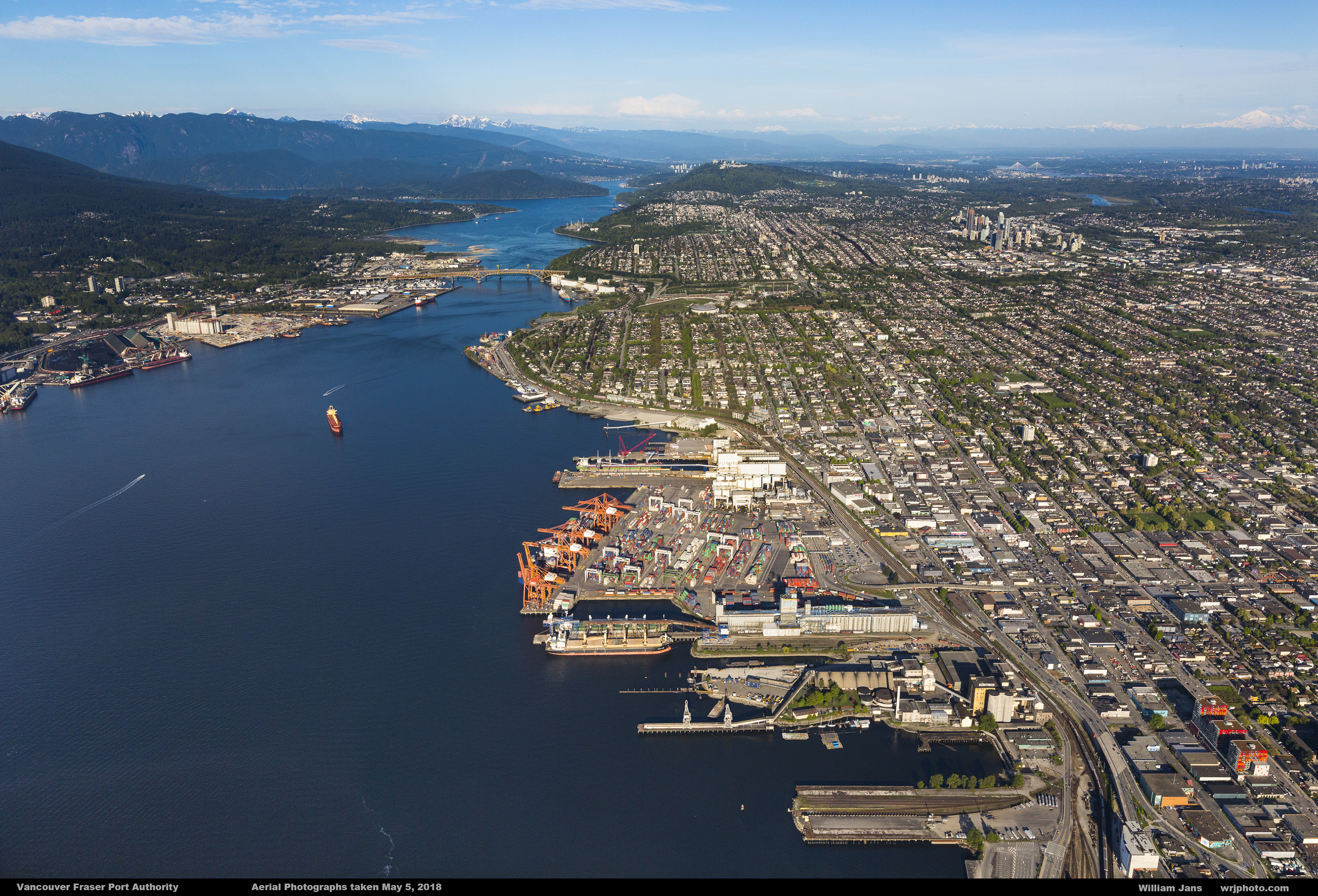 Vancouver port aerial shot