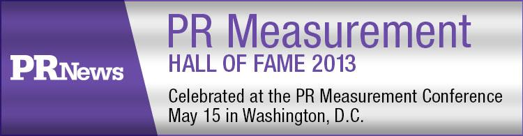PR News' PR Measurement Hall of Fame Luncheon- May 15, 2013